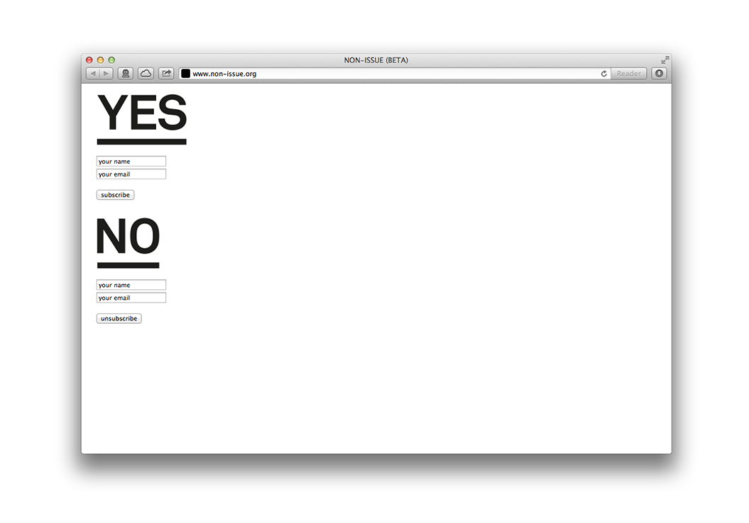 Non-Issue / Website / non-issue.org / 2013