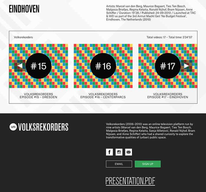 Volksrekorders / Website / Volksrekorders.com / 2018