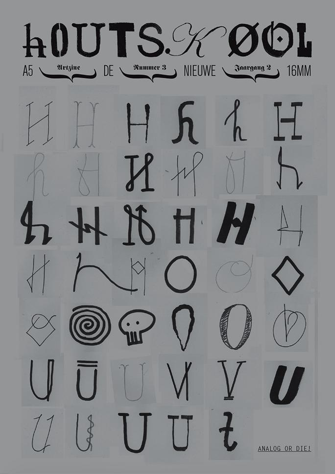 hOUTSKØOL / artzine / #7 / cover: bas koopmans / 2010