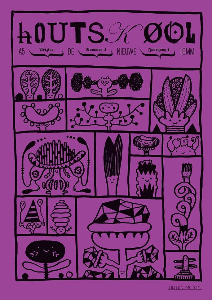 hOUTSKØOL / artzine / #4 / cover: jeroen funke / 2010