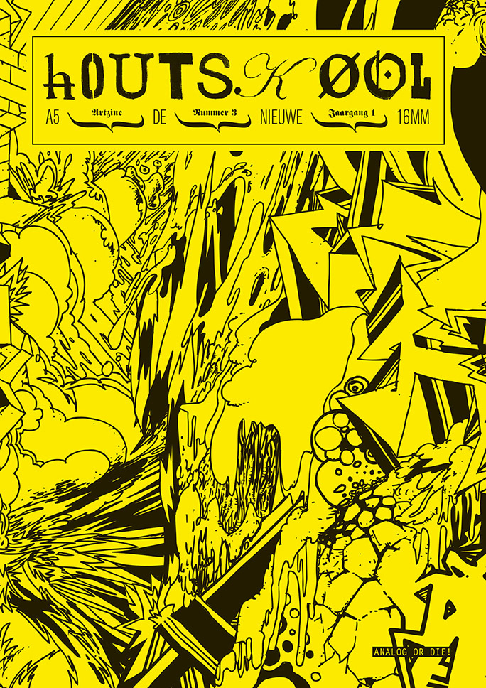 hOUTSKØOL / artzine / #3 / cover: jeroen erosie / 2009