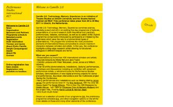 PSi #17 / Camillo 2.0 / Website / 2011
