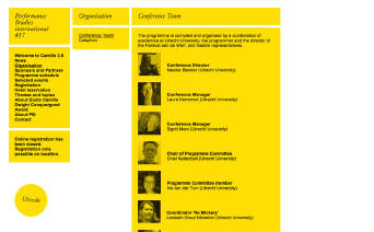 Performance Studies International / Website / 2011