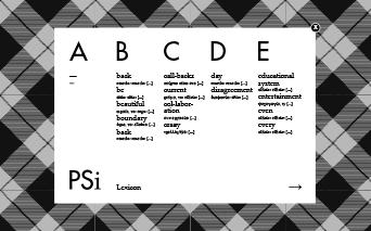 Performance Studies International / Lexicon / 2011