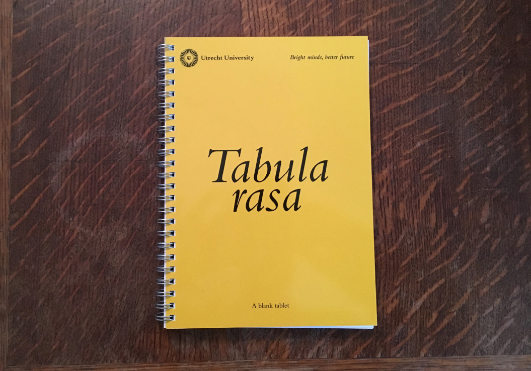 Utrecht University / Notebook / Tabula Rasa / 2015