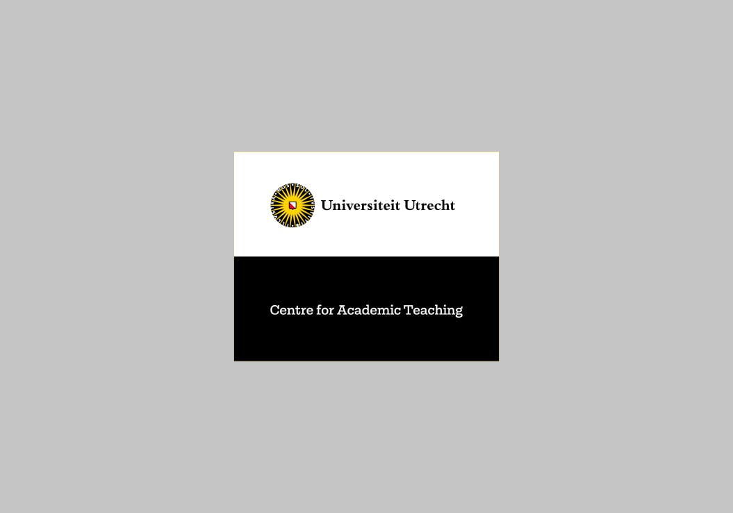 Universiteit Utrecht / Merkarchitectuur / Centre for Academic Teaching / 2017