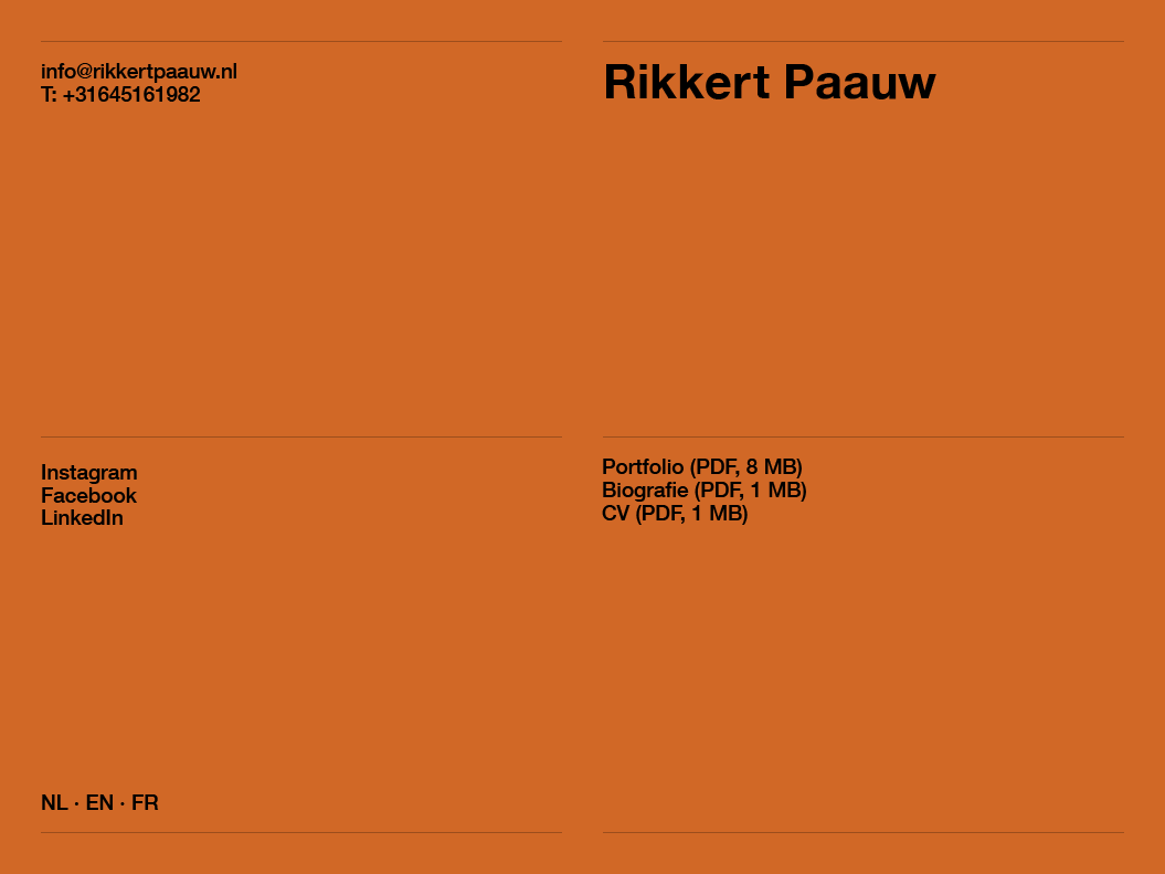 Rikkert Paauw / Website / 2021