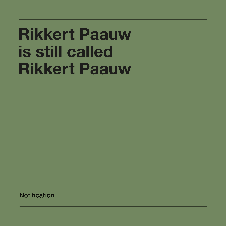 Rikkert Paauw / Campagne / 2018