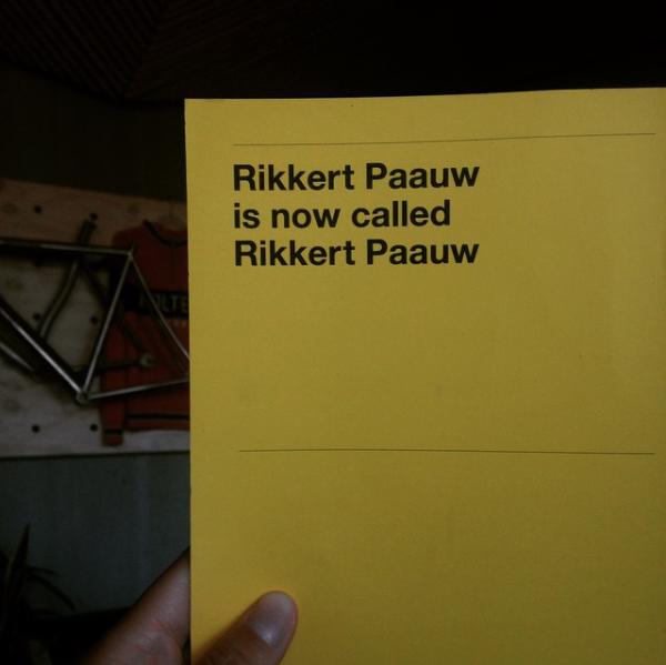 Rikkert Paauw / Campagne / 2014