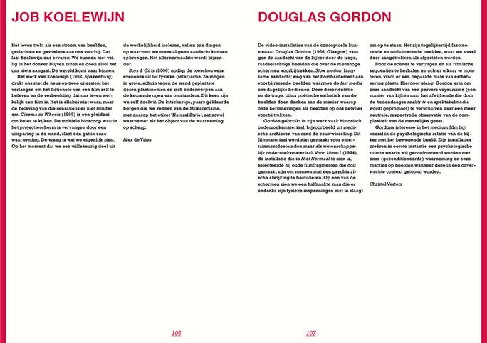 Niet Normaal / Publicatie / Job Koelewijn / Douglas Gordon / 2009