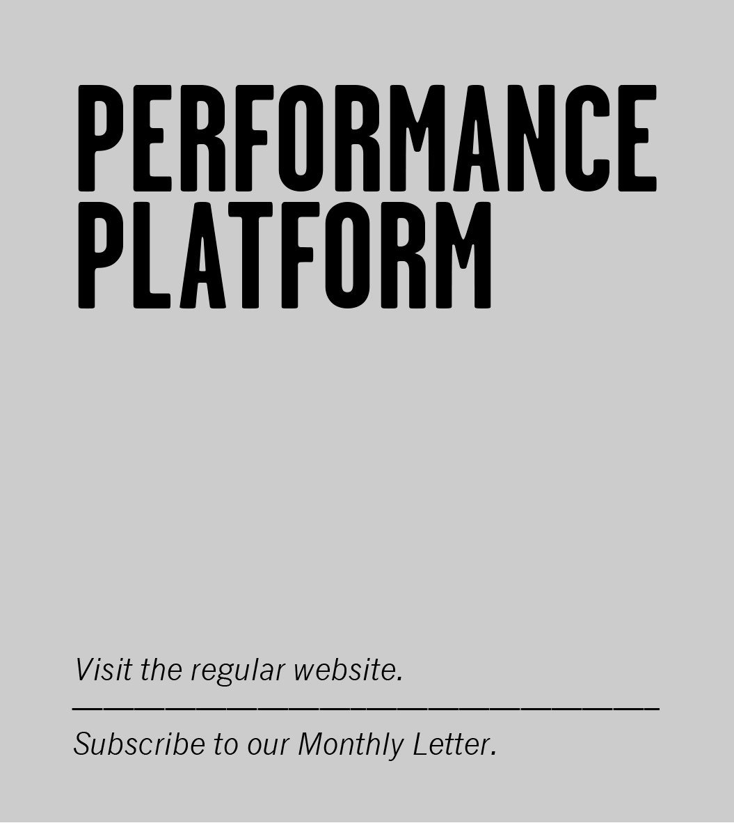 Performance Platform / Mobiel / Homepage / 2014