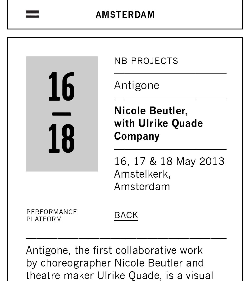 Performance Platform / Mobiel / Kalender / 2014