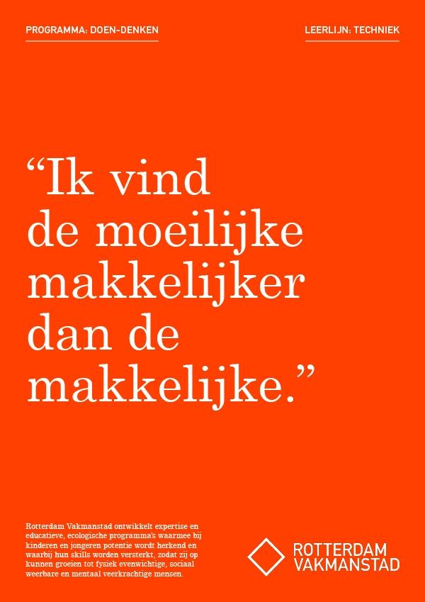 Rotterdam Vakmanstad / Doen-denken / Campagne / 2018