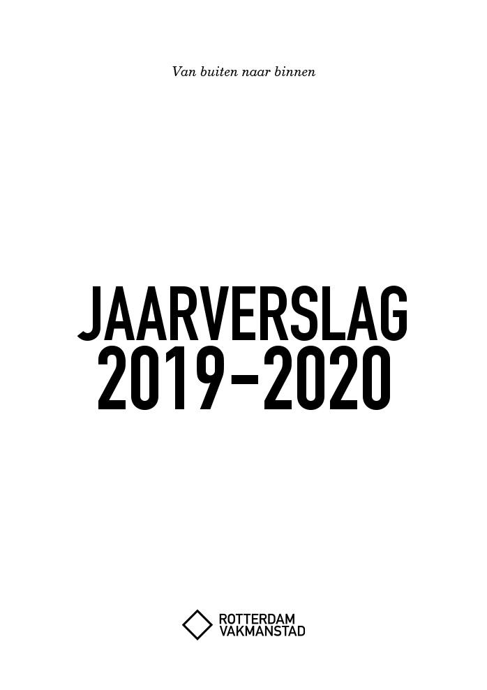 Rotterdam Vakmanstad / Jaarverslag / Cover / 2019-2020