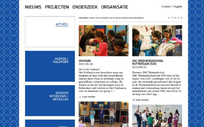 Rotterdam Vakmanstad / Website / Voorpagina / 2012