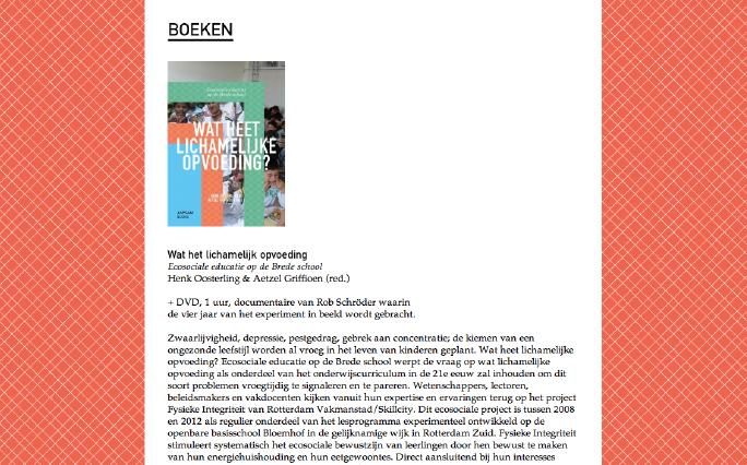 Rotterdam Vakmanstad / Website / Artikel / 2012