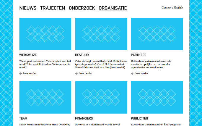 Rotterdam Vakmanstad / Website / Organisatie / 2012