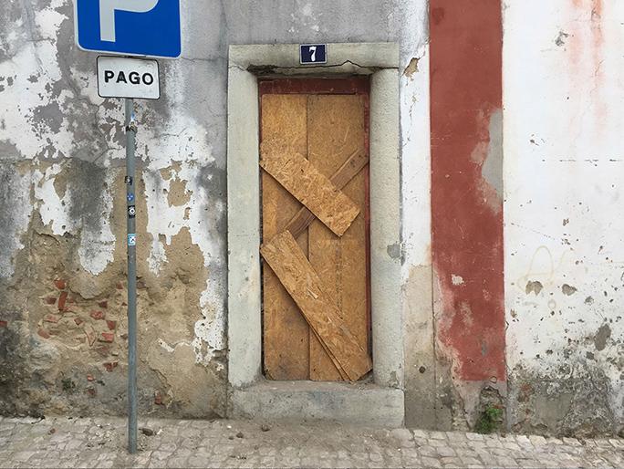 Betreten Verboten / Found Object / Lissabon