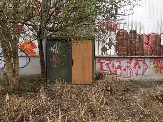 Betreten Verboten / Found Object / Panningen