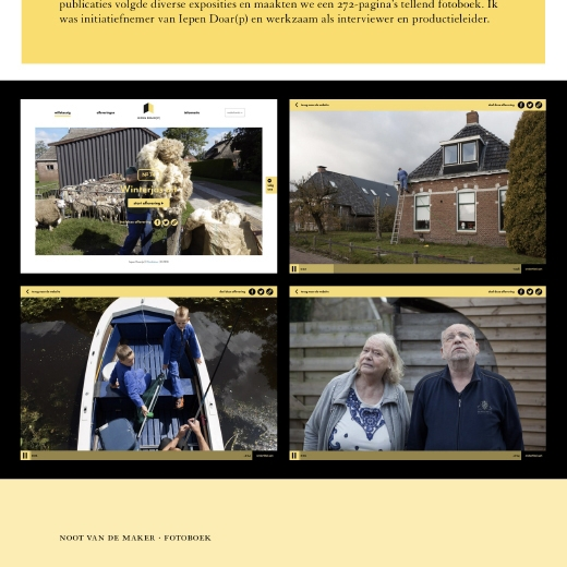 Sjoerd Litjens / Iepen Doar(p) / Website / sjoerdlitjens.nl / 2019