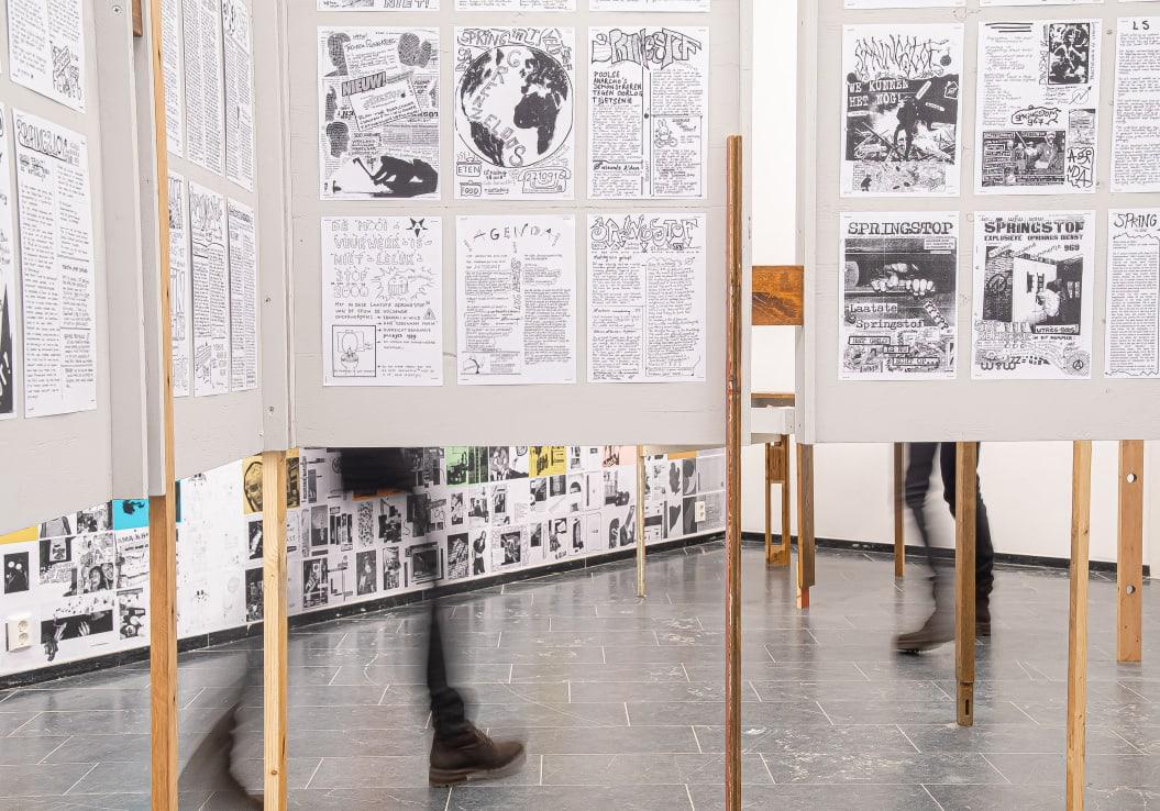 Self-publish or be damned / Tentoonstelling / Academiegalerie / Anders Zine / Springstof / 2019
