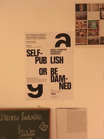 Self-publish or be damned / Academiegalerie / Poster / Boekenbar / 2019