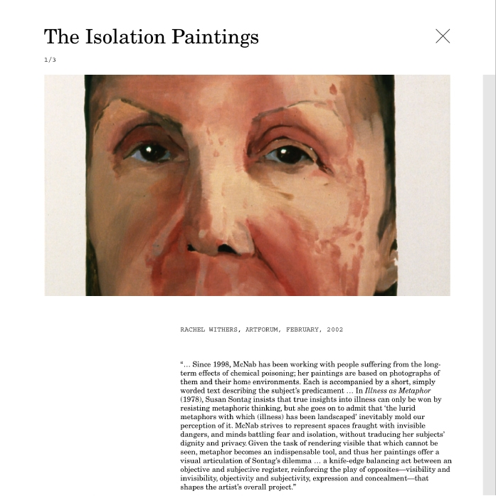 Janice McNab / Website / The Isolation Paintings / 2021