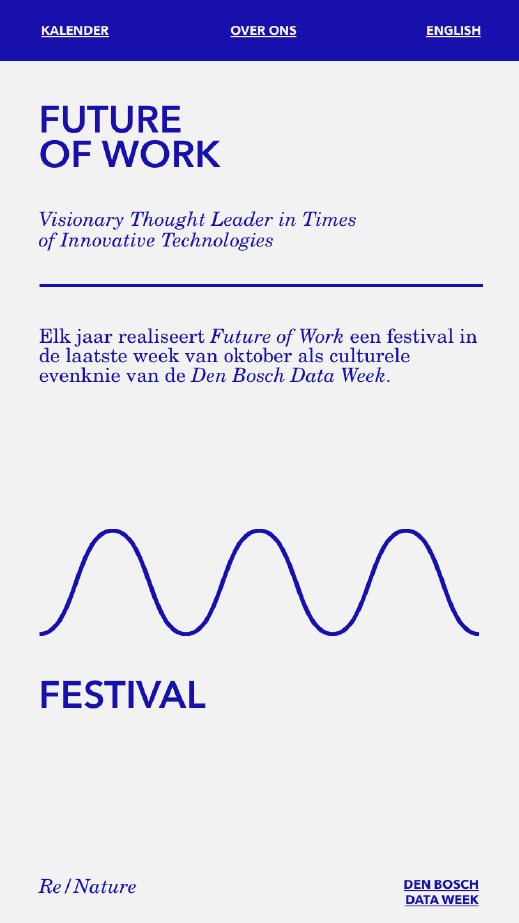 Stichting Future of Work / Website / Mobiel / 2021